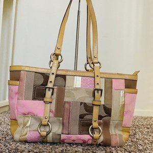 Coach Pink Leather Shoulder Bag 10451